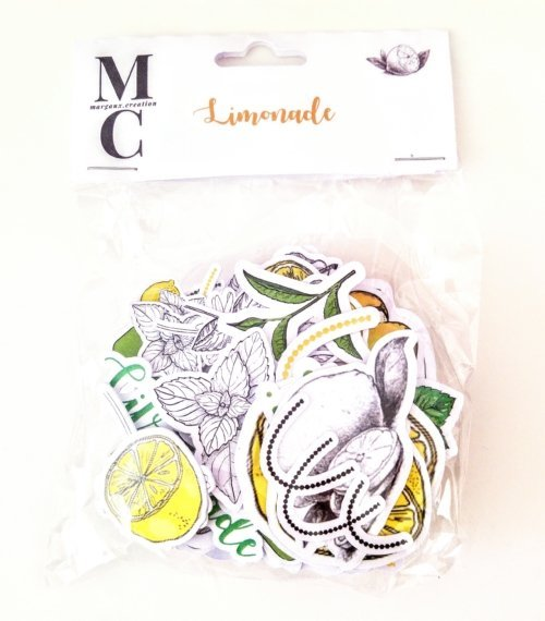 Lot d'embellissements die cuts Collection Limonade de Margaux Création