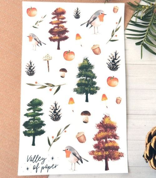 28 stickers planner et bujo Nostalgie d'Automne de Valley of paper