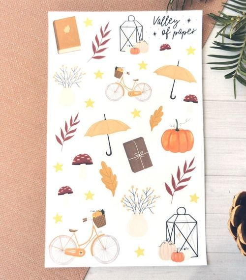 31 stickers planner et bujo Balade automnale de Valley of paper