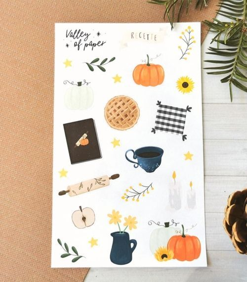 24 stickers planner et bujo Cuisine d'automne de Valley of paper