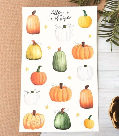 21 stickers planner et bujo Cucurbitacées de Valley of paper