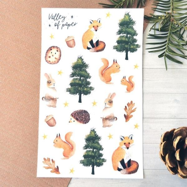 26 stickers planner et bujo Animaux de la forêt de Valley of paper