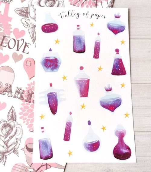 24 stickers planner et bujo Potions magiques de Valley of paper