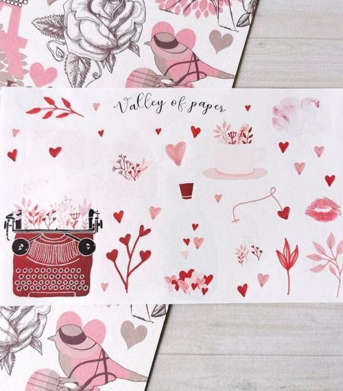 30 stickers planner et bujo Romantique de Valley of paper
