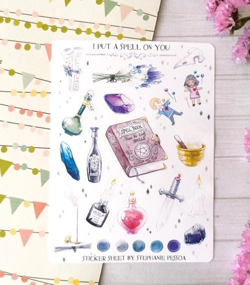 22 stickers waterproof planner et bujo I put a spell on you Stéphanie Pessoa